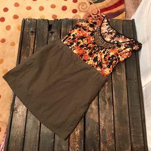 Dockers Brown Skirt